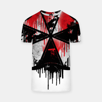 Thumbnail image of Hazardous Umbrella T-shirt, Live Heroes