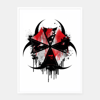 Thumbnail image of Hazardous Umbrella Framed poster, Live Heroes