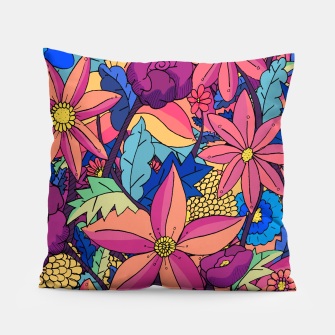 Thumbnail image of flowers upon flowers 2 Pillow, Live Heroes