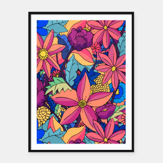 Thumbnail image of flowers upon flowers 2 Framed poster, Live Heroes