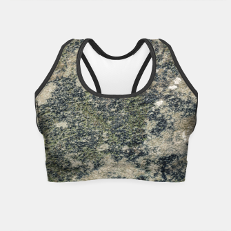 Thumbnail image of Grunge Camo Print Design Crop Top, Live Heroes