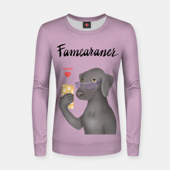 Thumbnail image of Famearaner (Pink Background) Women sweater, Live Heroes