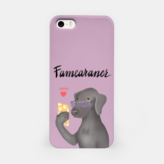 Thumbnail image of Famearaner (Pink Background) iPhone Case, Live Heroes