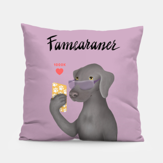 Thumbnail image of Famearaner (Pink Background) Pillow, Live Heroes