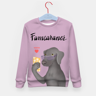 Thumbnail image of Famearaner (Pink Background) Kid's sweater, Live Heroes