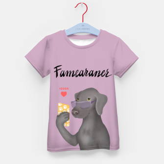 Thumbnail image of Famearaner (Pink Background) Kid's t-shirt, Live Heroes