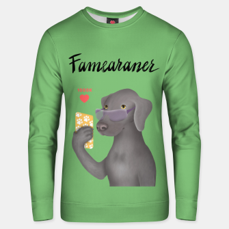 Thumbnail image of Famearaner (Green Background) Unisex sweater, Live Heroes
