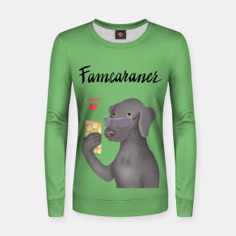 Thumbnail image of Famearaner (Green Background) Women sweater, Live Heroes