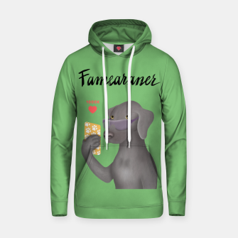 Thumbnail image of Famearaner (Green Background) Hoodie, Live Heroes