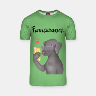 Thumbnail image of Famearaner (Green Background) T-shirt, Live Heroes
