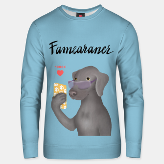 Thumbnail image of Famearaner (Blue Background) Unisex sweater, Live Heroes