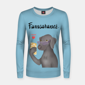 Thumbnail image of Famearaner (Blue Background) Women sweater, Live Heroes