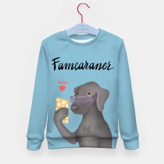 Thumbnail image of Famearaner (Blue Background) Kid's sweater, Live Heroes