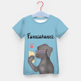 Thumbnail image of Famearaner (Blue Background) Kid's t-shirt, Live Heroes