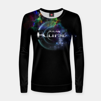 Miniaturka Solar Eclipse Fractal Art Spacescape ZO Women sweater, Live Heroes