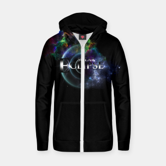 Miniaturka Solar Eclipse Fractal Art Spacescape ZO Zip up hoodie, Live Heroes