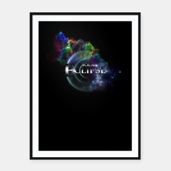 Thumbnail image of Solar Eclipse Fractal Art Spacescape ZO Framed poster, Live Heroes