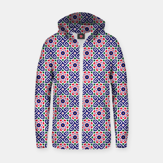 Thumbnail image of Original Traditional Moroccan Mosaic. Zip up hoodie, Live Heroes