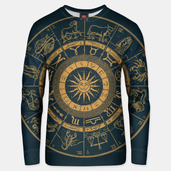 Thumbnail image of Vintage Zodiac & Astrology Chart | Royal Blue & Gold Unisex sweater, Live Heroes