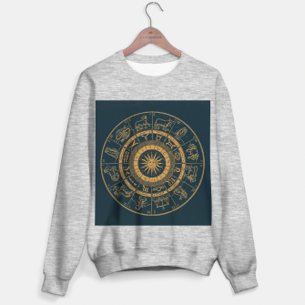 Miniaturka Vintage Zodiac & Astrology Chart | Royal Blue & Gold Sweater regular, Live Heroes