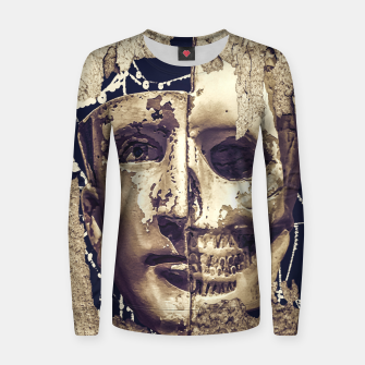 Thumbnail image of Creepy Photo Collage Artwork Women sweater, Live Heroes