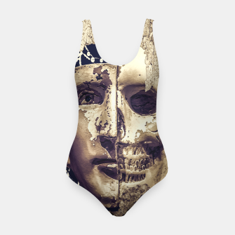 Thumbnail image of Creepy Photo Collage Artwork Swimsuit, Live Heroes