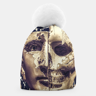 Thumbnail image of Creepy Photo Collage Artwork Beanie, Live Heroes