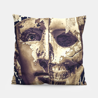 Thumbnail image of Creepy Photo Collage Artwork Pillow, Live Heroes