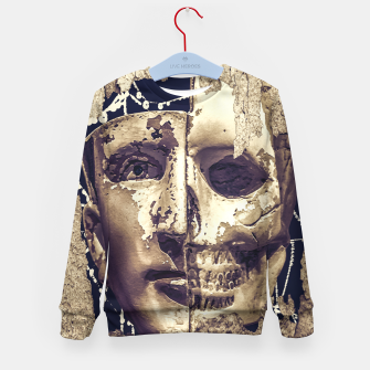 Thumbnail image of Creepy Photo Collage Artwork Kid's sweater, Live Heroes