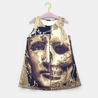 Thumbnail image of Creepy Photo Collage Artwork Girl's summer dress, Live Heroes