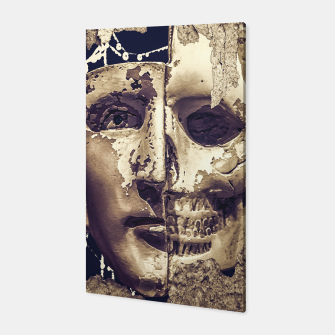 Thumbnail image of Creepy Photo Collage Artwork Canvas, Live Heroes