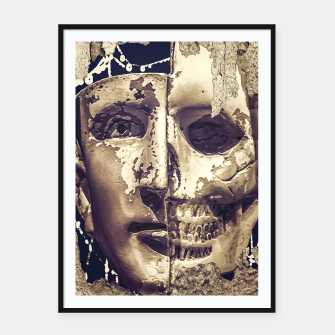 Thumbnail image of Creepy Photo Collage Artwork Framed poster, Live Heroes