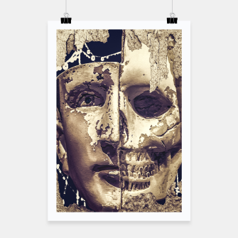 Thumbnail image of Creepy Photo Collage Artwork Poster, Live Heroes