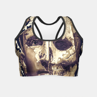 Thumbnail image of Creepy Photo Collage Artwork Crop Top, Live Heroes