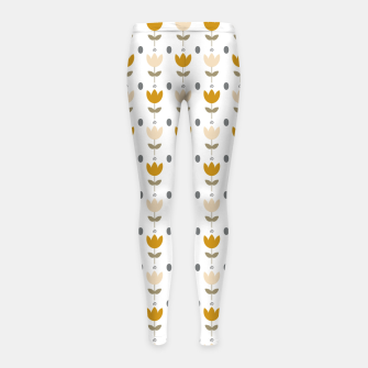Thumbnail image of Simple floral pattern Leggings para niña, Live Heroes