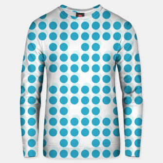 Thumbnail image of Light Blue Polka Dots 3D Unisex sweater, Live Heroes