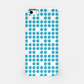 Thumbnail image of Light Blue Polka Dots 3D iPhone Case, Live Heroes
