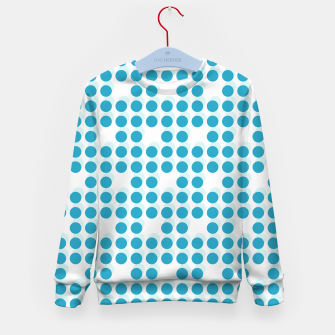 Thumbnail image of Light Blue Polka Dots 3D Kid's sweater, Live Heroes