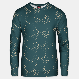 Thumbnail image of Petrol checkered pattern Unisex sweater, Live Heroes
