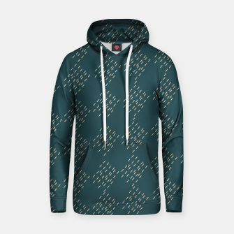 Thumbnail image of Petrol checkered pattern Hoodie, Live Heroes