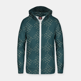 Thumbnail image of Petrol checkered pattern Zip up hoodie, Live Heroes