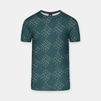 Thumbnail image of Petrol checkered pattern T-shirt, Live Heroes