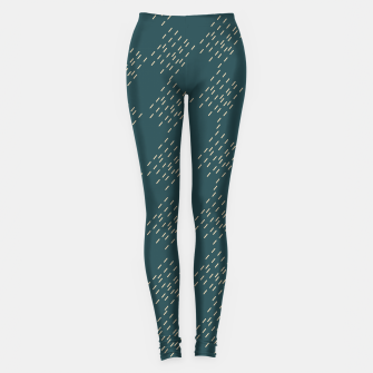 Thumbnail image of Petrol checkered pattern Leggings, Live Heroes