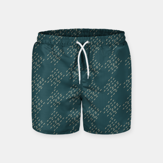 Thumbnail image of Petrol checkered pattern Swim Shorts, Live Heroes