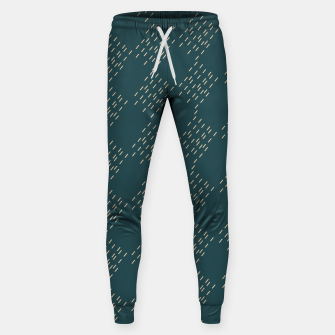 Thumbnail image of Petrol checkered pattern Sweatpants, Live Heroes