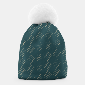 Thumbnail image of Petrol checkered pattern Beanie, Live Heroes