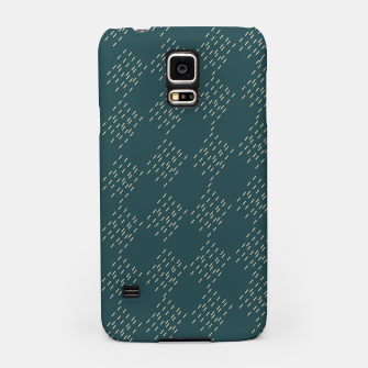 Thumbnail image of Petrol checkered pattern Samsung Case, Live Heroes