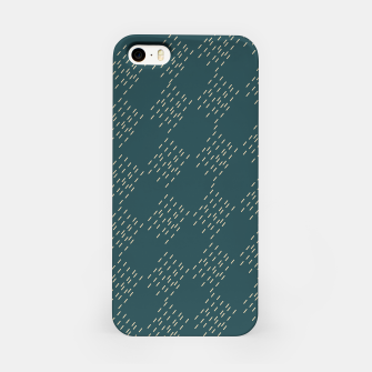 Thumbnail image of Petrol checkered pattern iPhone Case, Live Heroes
