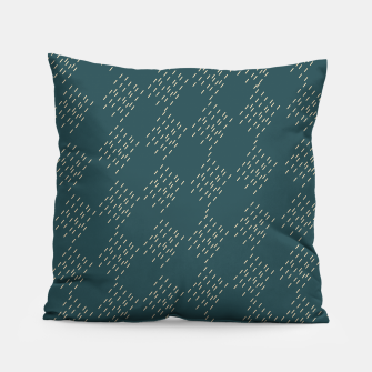 Thumbnail image of Petrol checkered pattern Pillow, Live Heroes