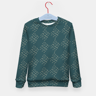 Thumbnail image of Petrol checkered pattern Kid's sweater, Live Heroes
